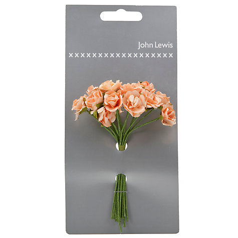 Buy John Lewis Sonia Rose Wedding Accessory, Peach Online at johnlewis.com