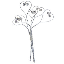 Buy John Lewis Diamante Wire Heart Wedding Accessory Online at johnlewis.com