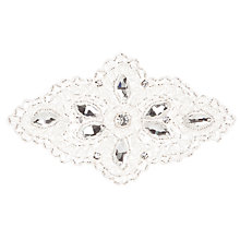 Buy John Lewis Crystal Applique, 14cm, Silver Online at johnlewis.com