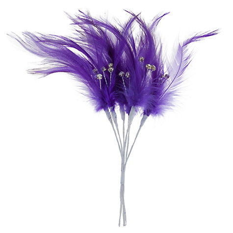 Buy John Lewis Diamonte Feather Wedding Accessory Online at johnlewis.com