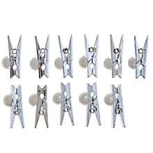 Buy John Lewis Pearl Pegs, Silver Online at johnlewis.com