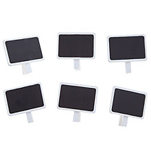 Buy John Lewis Blackboard Clips, Pack of 6, Mink Online at johnlewis.com