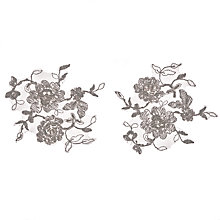 Buy John Lewis Sienna Ivory Beaded Appliques, 12cm, Pack of 2 Online at johnlewis.com