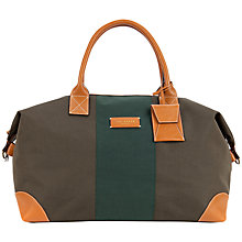 Buy Ted Baker Phileas Stripe Nylon Holdall, Brown Online at johnlewis.com