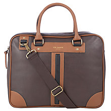 Buy Ted Baker Gainsbo Document Bag, Chocolate Online at johnlewis.com