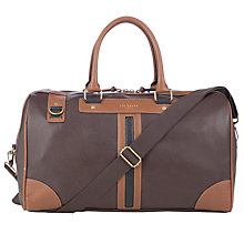 Buy Ted Baker Dupond Holdall, Chocolate Online at johnlewis.com