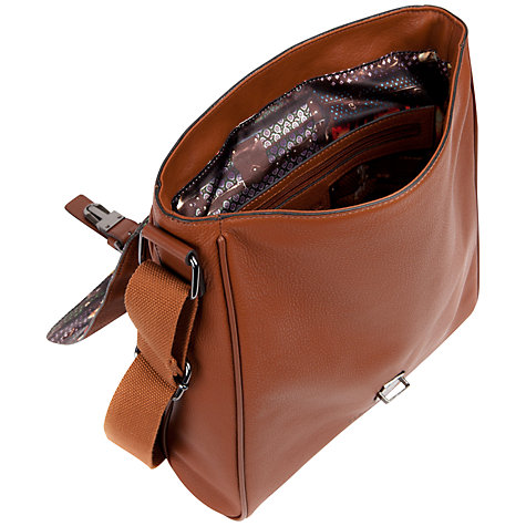 Buy Ted Baker Longwin Leather Flight Bag, Tan Online at johnlewis.com