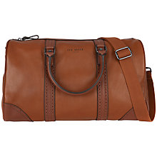 Buy Ted Baker Capezio Leather Holdall, Tan Online at johnlewis.com