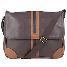 Buy Ted Baker Clulow Messenger Bag, Chocolate Online at johnlewis.com