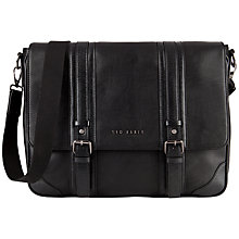 Buy Ted Baker Taiga Messenger Bag, Black Online at johnlewis.com