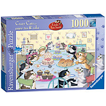 Buy Ravensburger Crazy Cats Tea & Cake Jigsaw Puzzle Online at johnlewis.com