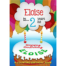 Buy The Letteroom Personalised Counting Birthday Book Online at johnlewis.com