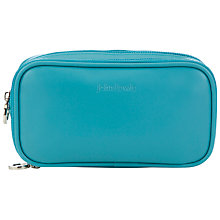 Buy John Lewis Double Compartment Cosmetics Pouch, Teal Daisy Chain Online at johnlewis.com