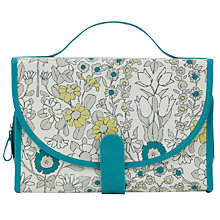 Buy John Lewis Daisychain Print Cosmetics Roll, Teal Online at johnlewis.com