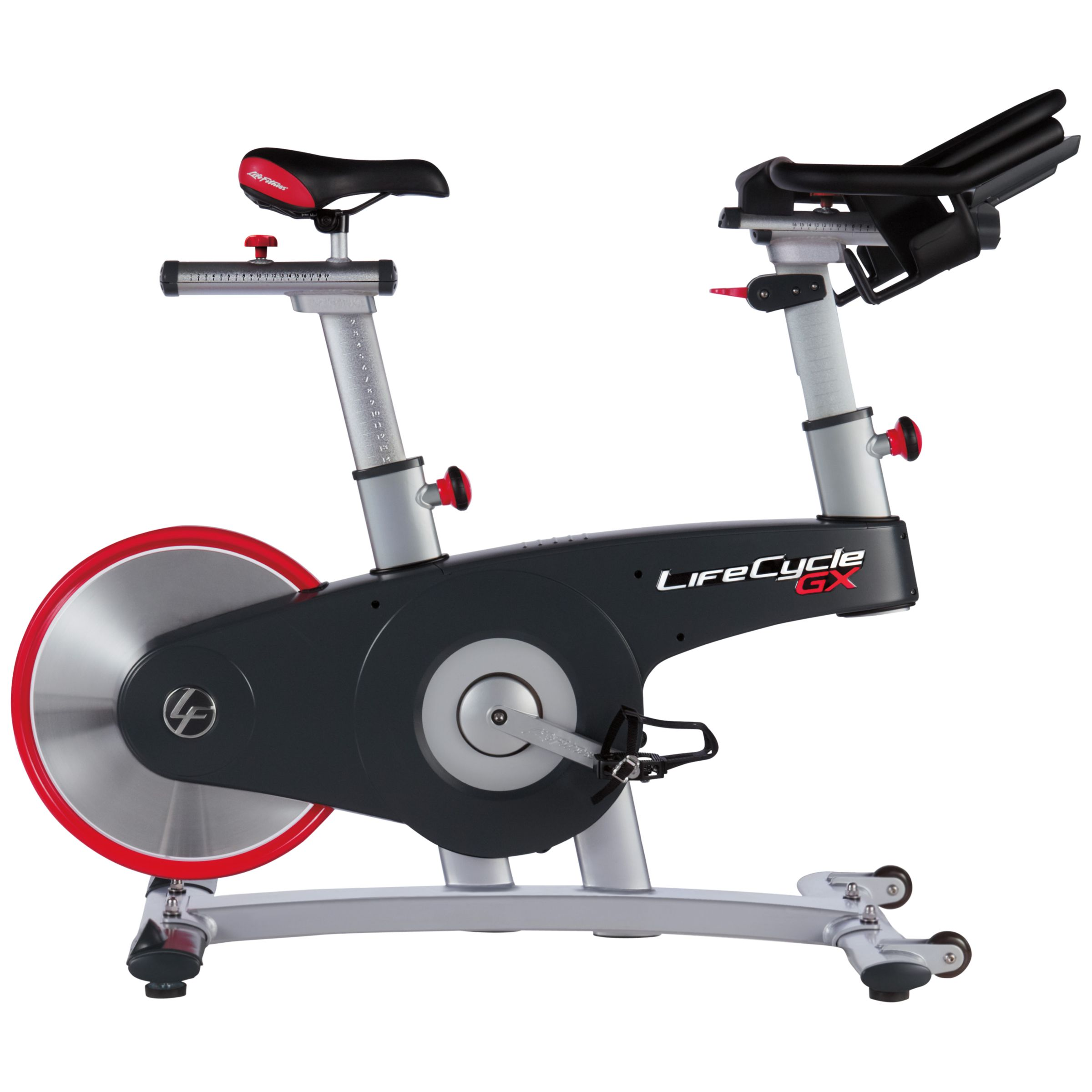 Life Fitness Life Fitness Life Cycle GX Exercise Bike, Silver/Grey/Red