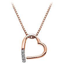 Buy Hot Diamonds Open Heart Memories Pendant Necklace, Rose Gold Online at johnlewis.com