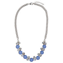 Buy COLLECTION by John Lewis Opaque Stone Chain Link Statement Necklace, Blue Online at johnlewis.com