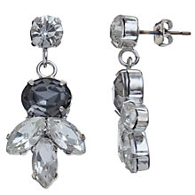 Buy John Lewis Marquise Cluster Crystal Stud Earrings, Silver / Black Online at johnlewis.com