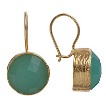 Buy Ottoman Hands 21ct Gold Plated Round Stone Drop Earrings Online at johnlewis.com
