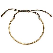 Buy Ottoman Hands 21ct Gold Plated Silk Cord Bracelet Online at johnlewis.com