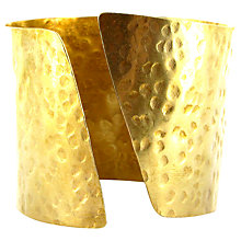 Buy Made Shikali Hammered Twist Cuff, Brass Online at johnlewis.com