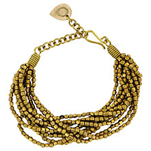 Buy Made Malikanyo Multistrand Bead Bracelet, Brass Online at johnlewis.com