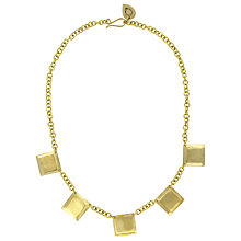 Buy Made Tusanduko Square Necklace, Brass Online at johnlewis.com
