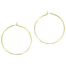 Buy Made Mwiba Plain Hoop Earrings, Brass Online at johnlewis.com