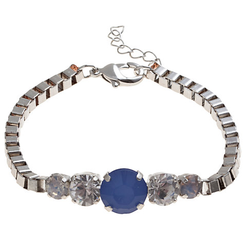 Buy COLLECTION by John Lewis Opaque Stone Chain Link Bracelet, Blue Online at johnlewis.com