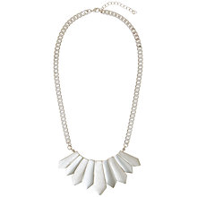 Buy John Lewis Contrast Finish Geometric Fan Flat Statement Necklace Online at johnlewis.com