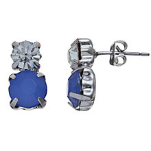 Buy COLLECTION by John Lewis Opaque Double Stone Stud Earrings, Blue Online at johnlewis.com