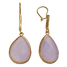 Buy Ottoman Hands 21 ct Gold Plated Crystal Teardrop Stone Drop Earrings Online at johnlewis.com