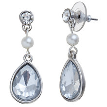 Buy John Lewis Pearl Diamante Teardrop Earrings, Silver Online at johnlewis.com