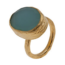Buy Ottoman Hands 21ct Gold Plated Oval Adjustable Ring Online at johnlewis.com
