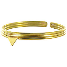 Buy Made Small Triangle Bangle, Brass Online at johnlewis.com