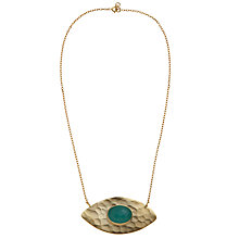 Buy Ottoman Hands Evil Eye Pendant, Aqua Chalcedony Online at johnlewis.com