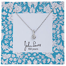 Buy John Lewis Daisychain Print Round Diamante Pendant, Silver Online at johnlewis.com
