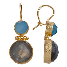 Buy Ottoman Hands 21ct Gold Vermeil Double Stone Drop Earrings Online at johnlewis.com