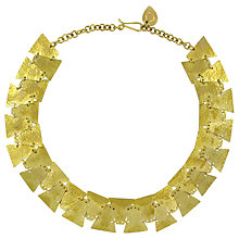 Buy Made Sequence Geometric Statement Necklace, Brass Online at johnlewis.com