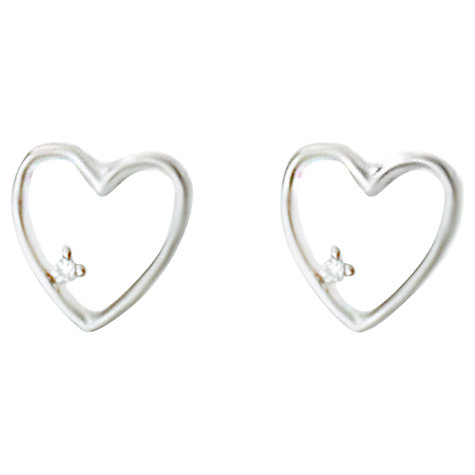 Buy Joma Cara Open Heart Cubic Zirconia Stud Earrings Online at johnlewis.com