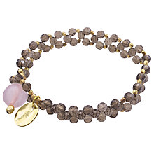 Buy Azuni 18ct Gold Plated Facet Bead Double Row Bracelet Online at johnlewis.com