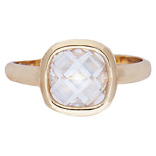 Buy Joma Elana Cubic Zirconia Adjustable Ring, Gold Online at johnlewis.com
