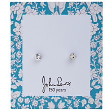 Buy John Lewis Daisychain Print Round Diamate Stud Earrings, Silver Online at johnlewis.com