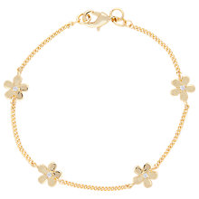 Buy Joma Daisy Chain Cubic Zirconia Bracelet, Gold Online at johnlewis.com
