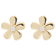 Buy Joma Daisy Chain Cubic Zirconia Stud Earrings, Gold Online at johnlewis.com