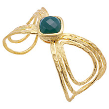 Buy Azuni 18ct Gold Plated Statement Butterfly Brooch, Green Onyx Online at johnlewis.com
