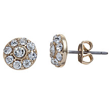 Buy John Lewis Petite Diamante Flower Stud Earrings, Gold Online at johnlewis.com