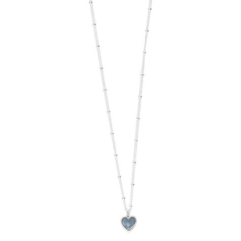 Buy Joma Kiki Crystal Heart Pendant, Blue Online at johnlewis.com