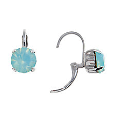 Buy John Lewis Glass Crystal Lever Drop Earrings, Aqua Online at johnlewis.com