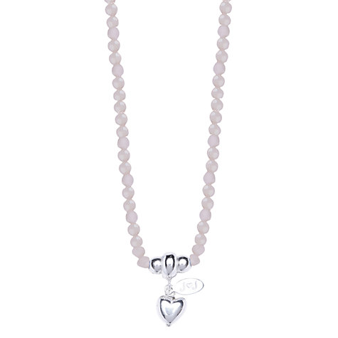 Buy Joma Silver Heart Fifi Bead Necklace Online at johnlewis.com